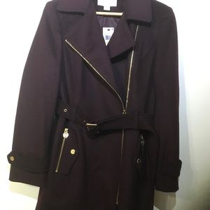 New! Michael Kors with tag, Burgundy Coat.